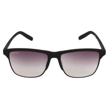 CREATURE | CREATURE Black Matt Finish Unisex Sunglasses with UV Protection (Lens-Purple|Frame-Black)