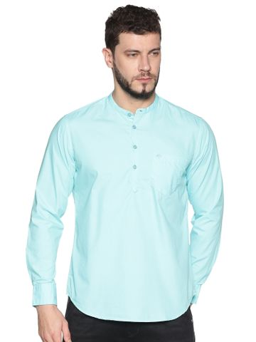 Chennis | Chennis Men's Aqua Casual Cotton Kurta