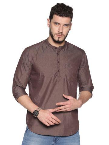 Chennis | Chennis Men's Brown Casual Cotton Kurta