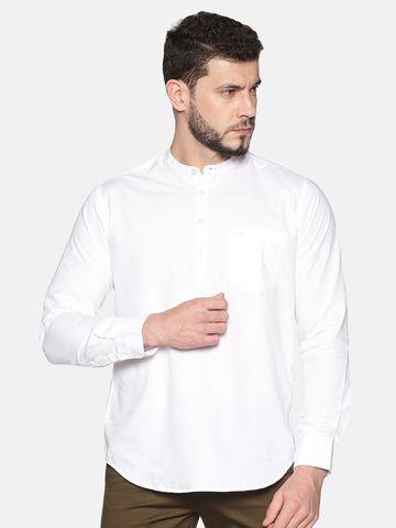 Chennis | Chennis Men's White Casual Cotton Kurta