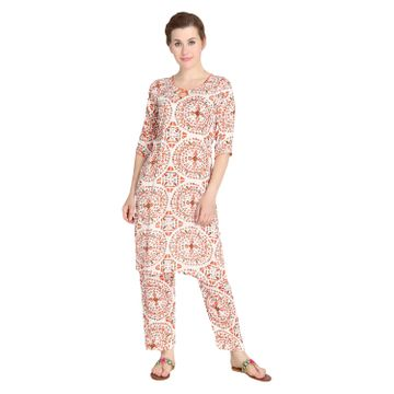 LABEL KARA | Stylish Quirky Print Kurta Pants Set
