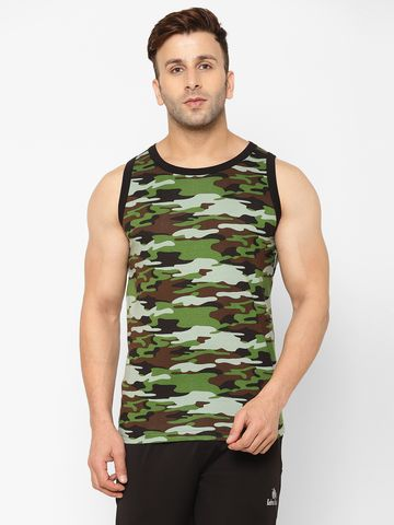 Eppe | EPPE Men's Round Neck Multicolor Super Soft Micro Polyester Sleeveless Sports Casual T-Shirt