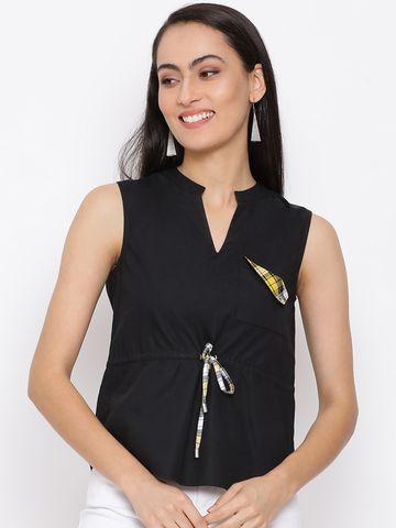 DRAAX fashions | DRAAX FASHIONS Women Black Embellished Fit  top
