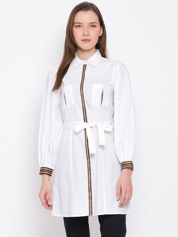 DRAAX fashions   DRAAX FASHIONS Women white Solid Styled Back Dress