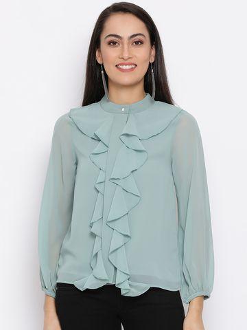 DRAAX fashions   DRAAX FASHIONS Women sea green Polyster Top
