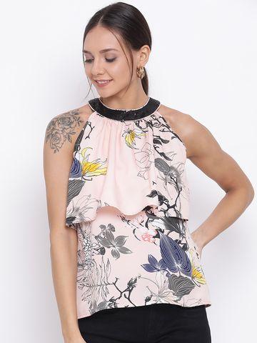 DRAAX fashions | DRAAX FASHIONS Women Printed Embellished A-Line Top