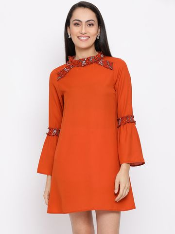 DRAAX fashions | DRAAX FASHIONS Women  Brown A-Line Dress
