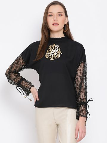 DRAAX fashions | DRAAX FASHIONS Women Black Solid Top