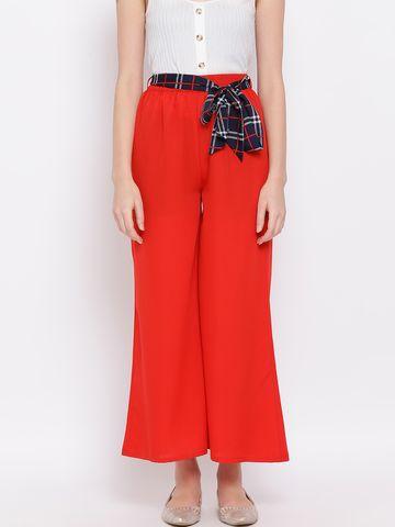 DRAAX fashions | DRAAX FASHIONS Women Red Palazzo