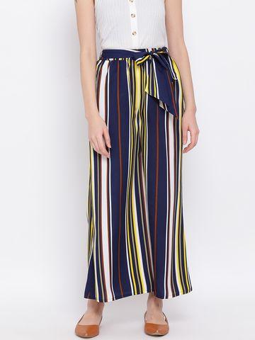 DRAAX fashions | DRAAX FASHIONS Women Stripe Blue and white Palazzo