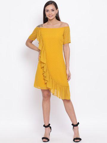 DRAAX fashions | DRAAX FASHIONS Yellow Skater Dress