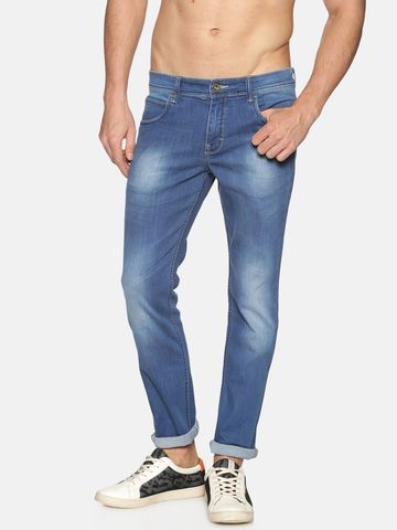 Chennis | Chennis Mens Cotton Slim Fit Casual Indigo Jeans