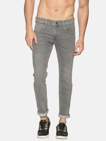 Chennis | Chennis Mens Cotton Slim Fit Casual Grey Jeans