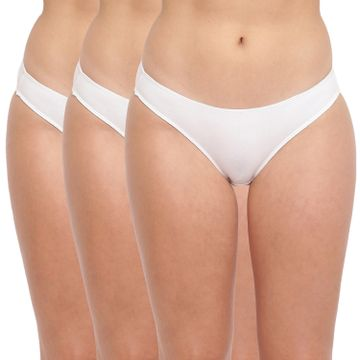BASIICS by La Intimo | Grace Well Bikini Brief White (Pack of 3)