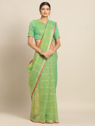 SATIMA | Satima ParrotCotton SilkWeaving Saree