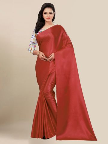 SATIMA | FANCY MAROON SOLID CASUAL WEAR SAREE