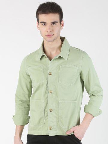 Blue Saint | Blue Saint Men's Solid Green Jacket