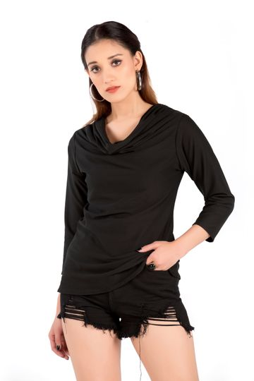 EUDORA CUT | Black Solid Top