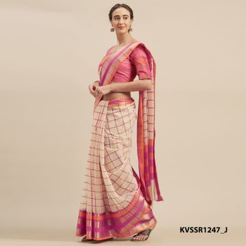 SATIMA | Satima YellowCotton SilkPrinted Saree