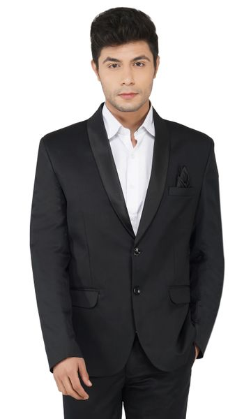 TAHVO | Black tuxedo blazer for men