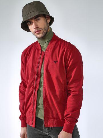 Blue Saint   Blue Saint Men's Red Slim Fit Denim Jackets