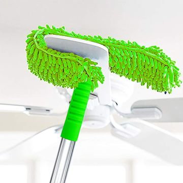 iLife | iLife Microfiber Feather Duster with Telescoping Extension Stainless Steel Pole (Green)
