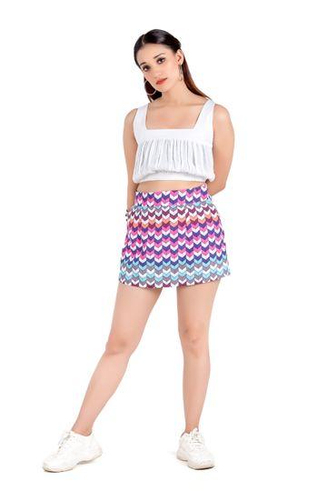 EUDORA CUT | Multicolor Flared Skirt