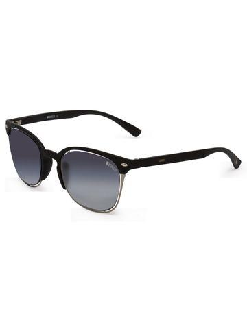 ENRICO | ENRICO Garnay UV Protected Clubmaster Shape Sunglasses for Women ( Lens - Blue | Frame - Black)