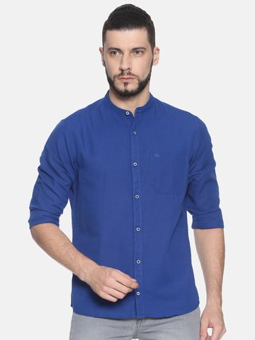 Chennis | Chennis Men's Solid Casual Shirt, Blue