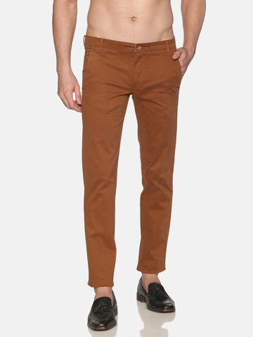 Chennis | Chennis Men Casual Rust Trousers