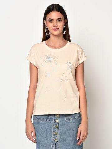METTLE | Women PASTEL PEACH T-Shirts