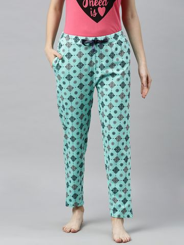 Enviously Young | Enviously Young Sea Green Printed Pyjama