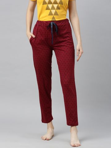 Enviously Young | Enviously Young Maroon Triange Printed Pyjama
