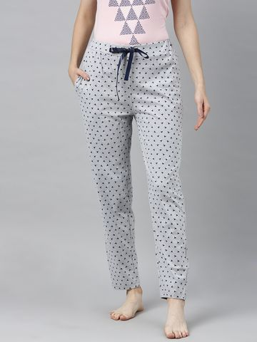 Enviously Young | Enviously Young Grey Melange Triange Printed Pyjama