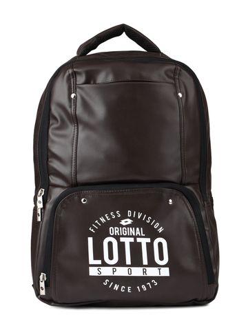 Lotto | Lotto Laptop Back Pack Script Dark Brown