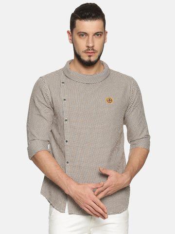 Showoff |  Men Brown Casual Cotton Checks  CasualShirts