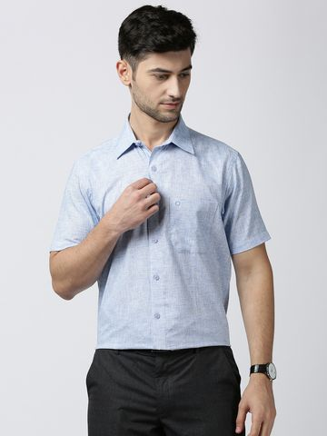 Jansons | Jansons Formal Solid Shirt - BLUE