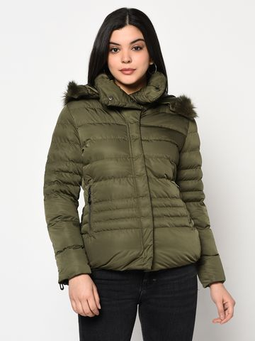 METTLE | Women OLIVE Front Open Jackets