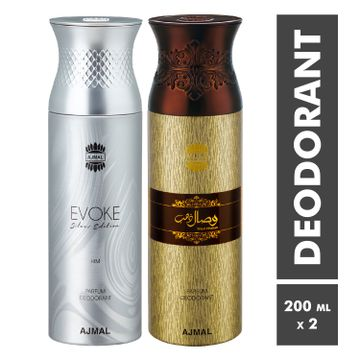 Ajmal | Evoke and Wisal Dhahab Deodorant Spray - Pack of 2