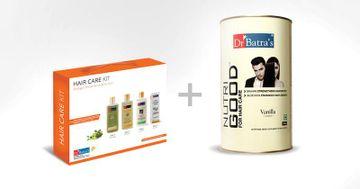 Dr Batra's | Dr Batra's Hair Care Kit Stronger, Shinier & Healthier Hair - 725 ml and NutriGood For Hair Care