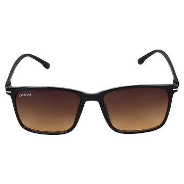 CREATURE | CREATURE Matt Finish Club Master UV Protected Sunglasses (Lens-Brown|Frame-Black)