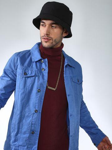 Blue Saint | Blue Saint Men's Blue Slim Fit Denim Jackets