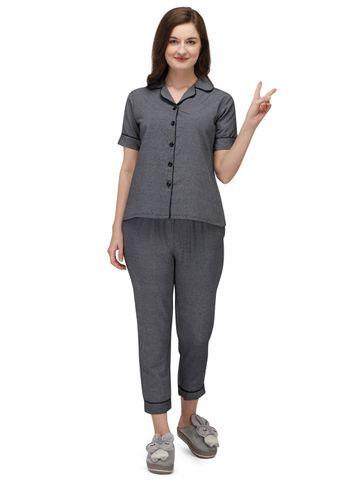 Smarty Pants   Smarty Pants women's grey color cotton night suit
