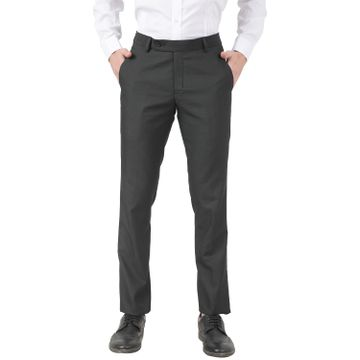 TAHVO | TAHVO men Black lycra formal trousers