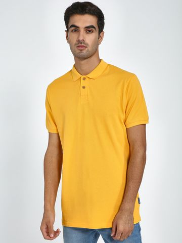 Blue Saint | Blue Saint Men's Yellow Regular Fit T-Shirts