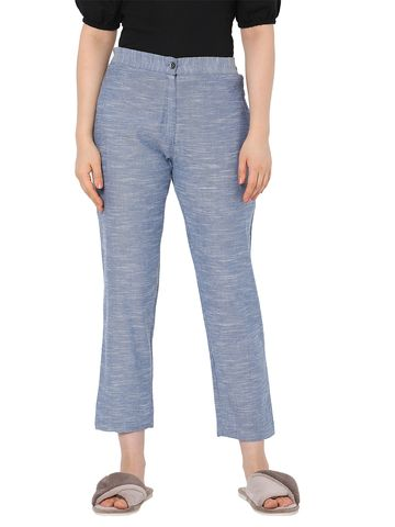 Smarty Pants | Smarty pants women's cotton lilac color ankle length tapered fit trouser