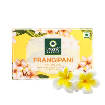 Organic Harvest | Organic Harvest Frangipani Bathing Bar, 110gm