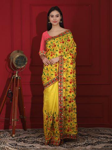 SATIMA | Embroidred Silk blend saree
