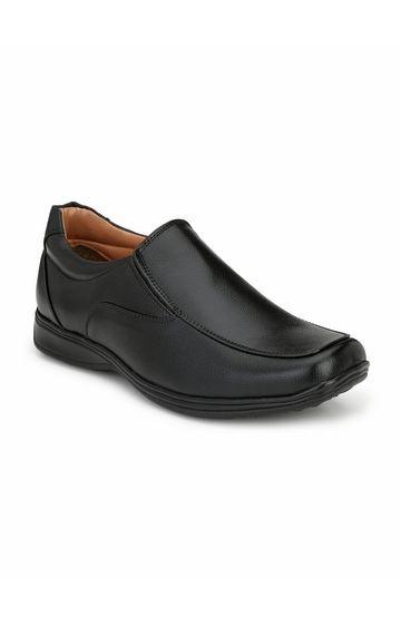 Guava | Guava Men Slip-on formal Shoes  - Black