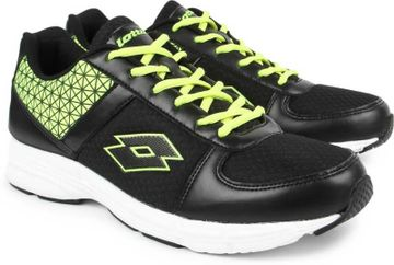 Lotto   Lotto Men's Rosso Black/Lime Running Shoes